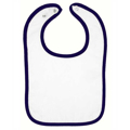 Picture of Infant Contrast Trim Terry Bib