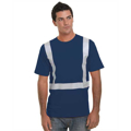 Picture of Hi-Visibility 100% Cotton Crew Solid Striping T-Shirt