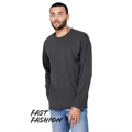 Picture of Fast Fashion Unisex Triblend Raw Neck Long-Sleeve T-Shirt