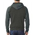 Picture of Adult Triblend Colorblock Full-Zip Fleece Hood