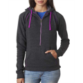 Picture of Ladies' Triblend Half-Zip Fleece Hood