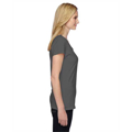 Picture of Ladies' 4.7 oz. Sofspun® Jersey Junior V-Neck T-Shirt