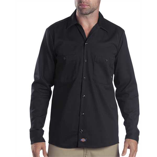 Picture of 6 oz. Tall Industrial Long-Sleeve Cotton Work Shirt