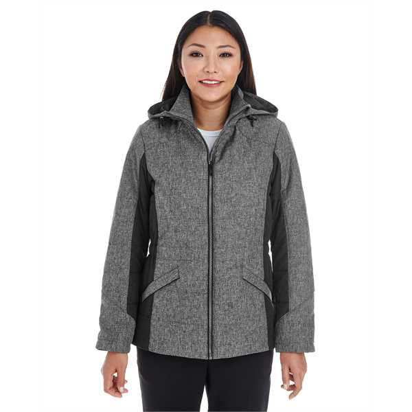 Picture of Ladies' Midtown Insulated Fabric-Block Jacket with Crosshatch Mélange
