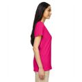 Picture of Ladies' Heavy Cotton™ 5.3 oz. V-Neck T-Shirt