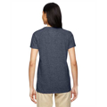 Picture of Ladies' Heavy Cotton™ 5.3 oz. V-Neck T-Shirt